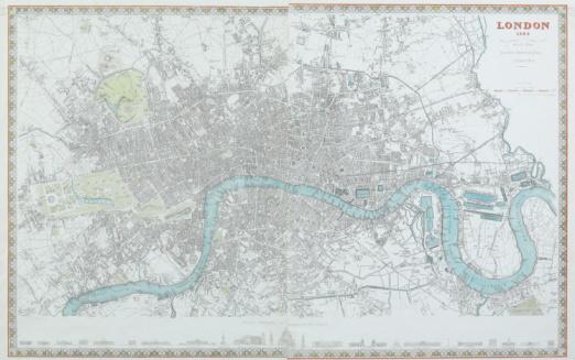 19th Century「Map of London , England」:スマホ壁紙(4)