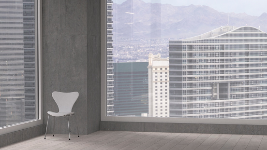 Back Of Chair「Chair in a room of a modern office building, 3D Rendering」:スマホ壁紙(16)