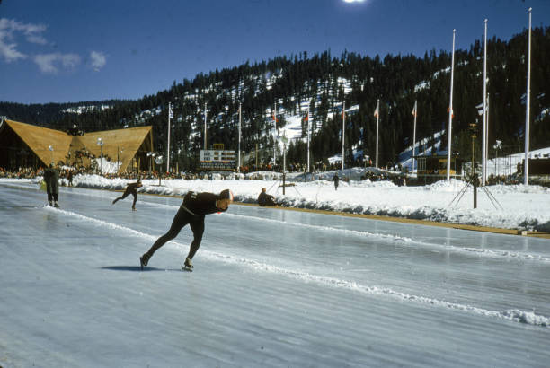 Speed Skaters Practice At 1960 Winter Olympics:ニュース(壁紙.com)