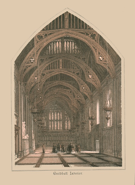 Ceiling「Guild Hall Interior, 1886」:写真・画像(18)[壁紙.com]