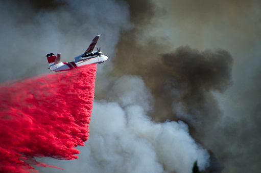 Inferno「Airplane Battling Wildfire in Southern California」:スマホ壁紙(7)