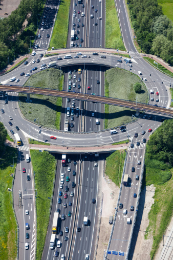 Netherlands「Aerial shot of highway interchange」:スマホ壁紙(15)