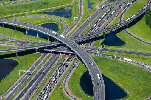 Netherlands「Aerial shot of highway interchange」:スマホ壁紙(6)