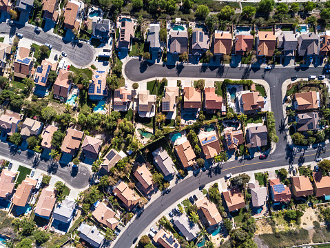 Southern California「Aerial Shot of Suburban Development」:スマホ壁紙(6)