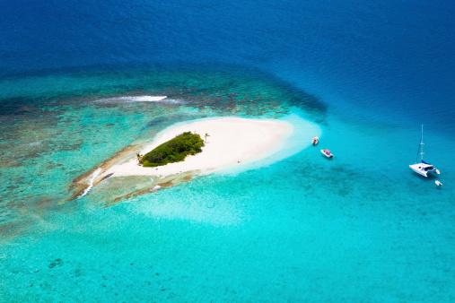 British Virgin Islands「aerial shot of Sandy Spit in British Virgin Islands」:スマホ壁紙(19)