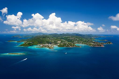 Lagoon「aerial shot of St. John in US Virgin Islands」:スマホ壁紙(15)