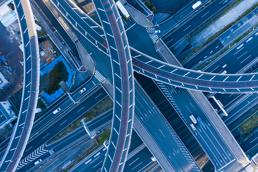 Elevated Road「Aerial shots of elevated roads and intersections.」:スマホ壁紙(14)