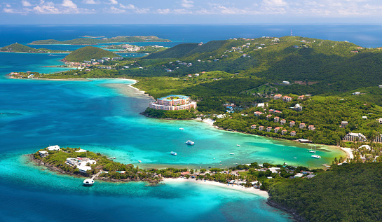 Lagoon「aerial shot of Coki Point, St. Thomas, US Virgin Islands」:スマホ壁紙(18)