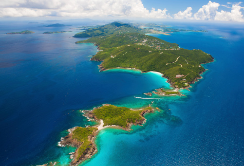 Virgin Islands「aerial shot of West End, St. Thomas, US Virgin Islands」:スマホ壁紙(18)