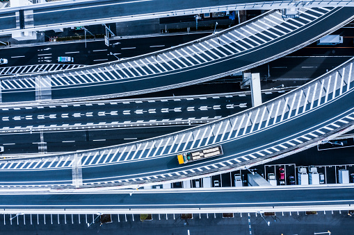 Multiple Lane Highway「Aerial shots of Japan's highway. Beautiful three-dimensional structure.」:スマホ壁紙(6)