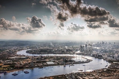 Thames River「The Thames, the O2 and the city of London」:スマホ壁紙(17)