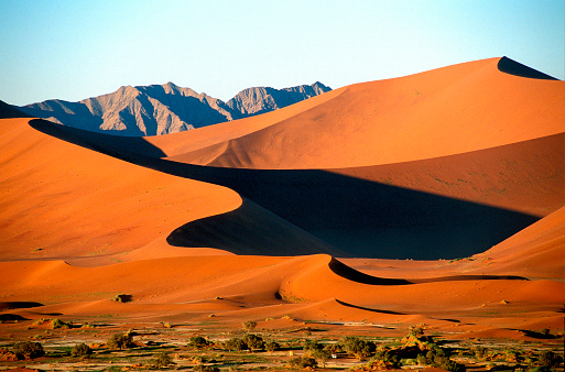 Namib-Naukluft National Park「Sossusvlei Dunes in the Namib Desert」:スマホ壁紙(2)