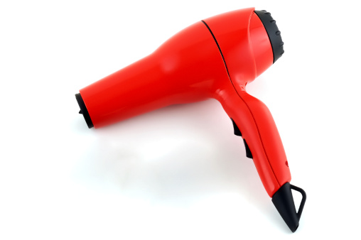 Hair Care「Red hairdryer on a white background」:スマホ壁紙(15)