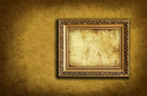 Textured Effect「wallpaper with empty picture frame」:スマホ壁紙(7)