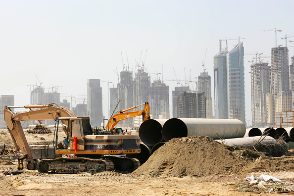 Concrete「Model of a proposed new building development, Dubai, UAE」:写真・画像(7)[壁紙.com]