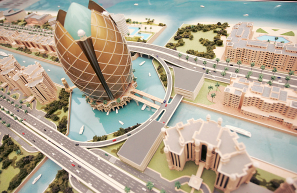 New「Model of a proposed new building development, Dubai, UAE」:写真・画像(19)[壁紙.com]