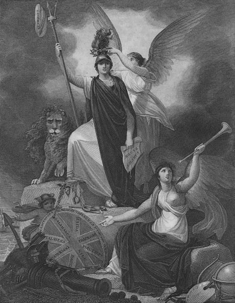 金管楽器「Frontispiece - Britannia Holding The Trident Of Neptune」:写真・画像(4)[壁紙.com]