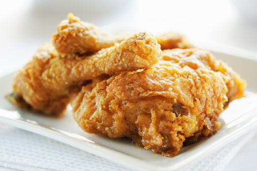 Fried Chicken「Crispy fried breast and legs from chicken」:スマホ壁紙(2)