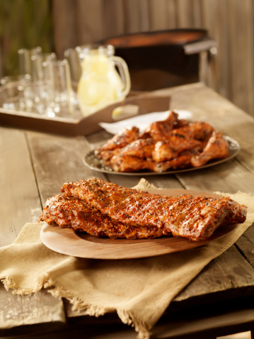 Barbecue Grill「BBQ Pork Ribs and Chicken」:スマホ壁紙(11)