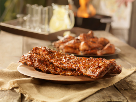 Barbecue Grill「BBQ Pork Ribs and Chicken」:スマホ壁紙(6)