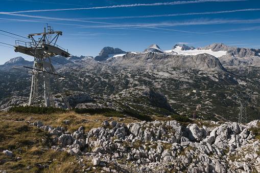 Dachstein Mountains「Gondola in Austrian Alps」:スマホ壁紙(19)
