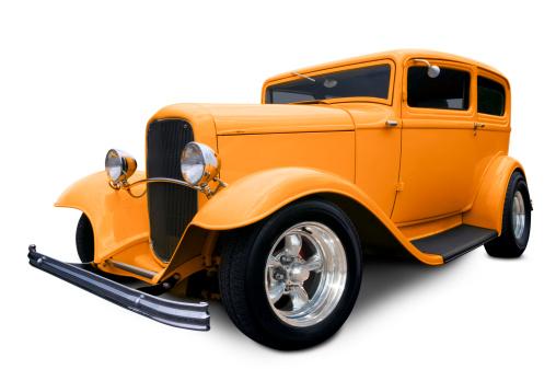 Hot Rod Car「Orange Hot Rod」:スマホ壁紙(2)