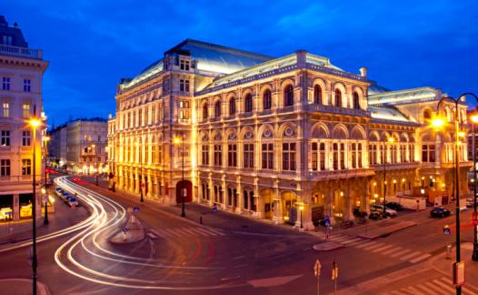 Gothic Style「Austria, Vienna, Burg Theatre, night」:スマホ壁紙(5)