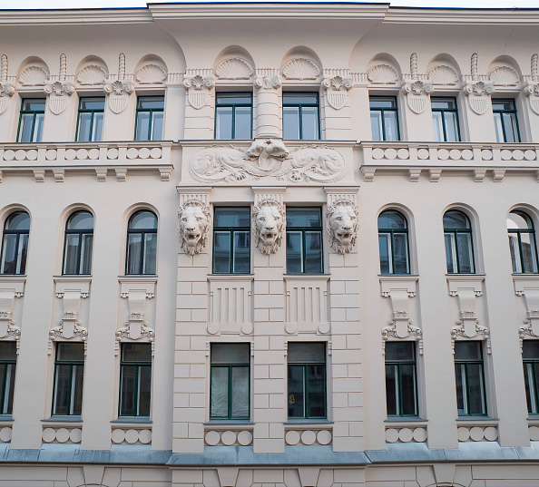 Classical Style「Austria, Vienna, Tenement Facade」:写真・画像(14)[壁紙.com]