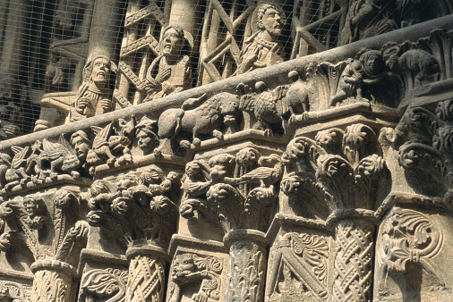 St「Austria, Vienna, St. Stephen's Cathedral, carved facade, close-up」:スマホ壁紙(10)