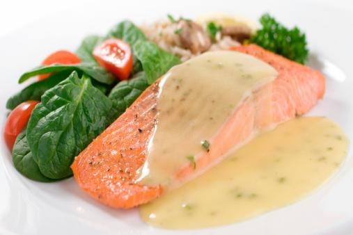 Poached Food「Salmon Dinner」:スマホ壁紙(19)