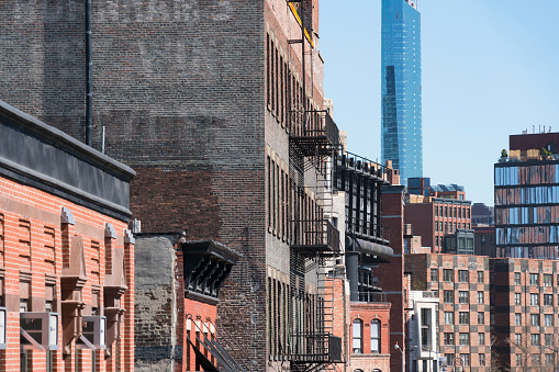Meatpacking District「Manhattan cityscape from High Line Park New York City on 2017. Rows of buildings along Meat Packing District from High Line Park.」:スマホ壁紙(11)