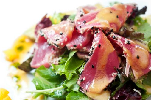 Fusion Food「Seared tuna salad」:スマホ壁紙(6)