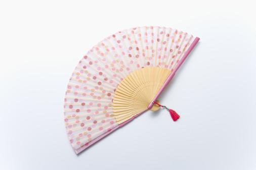 Folding Fan「Japanese folding fan, high angle view, white background」:スマホ壁紙(15)