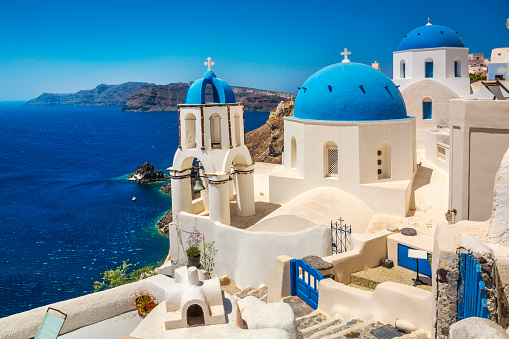 Greece「Oia at Santorini Island.」:スマホ壁紙(6)