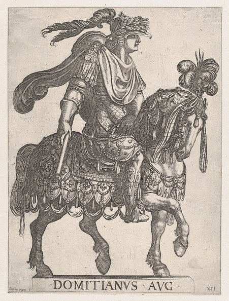 Etching「Plate 12: Emperor Domitian On Horseback Facing Right From The First Twelve Emperors ...,」:写真・画像(2)[壁紙.com]