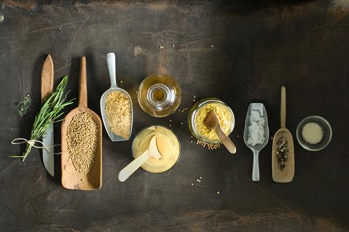 Condiment「Ingredients for freshly made mustard」:スマホ壁紙(12)