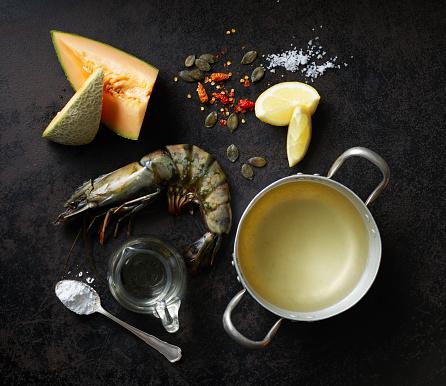 メロン「Ingredients for rockmelon soup with prawns and caramelized pumpkin seeds」:スマホ壁紙(14)