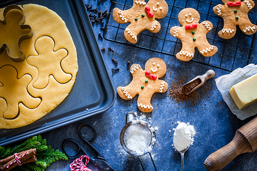 Indulgence「Ingredients and utensils for Christmas cookies preparation」:スマホ壁紙(18)