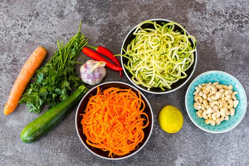 Carrot「Ingredients of vegetable noodle salad」:スマホ壁紙(5)