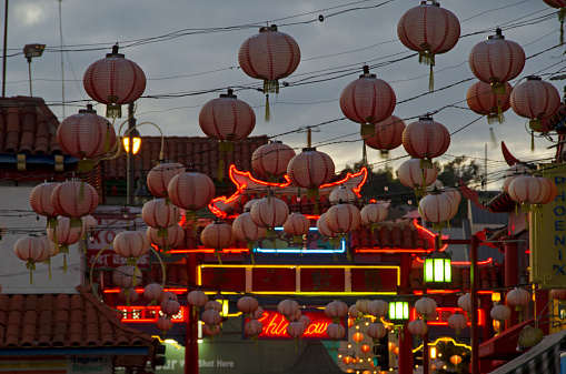Chinese Lantern「Chinatown evening」:スマホ壁紙(6)