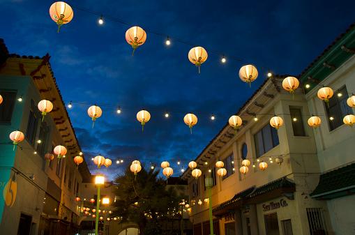 Chinese Lantern「Chinatown evening」:スマホ壁紙(5)