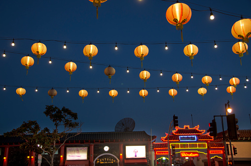 Chinese Lantern「Chinatown evening」:スマホ壁紙(8)