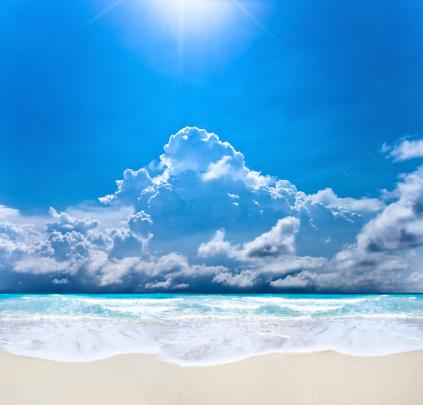 空気感「Sunrays のビーチ」:スマホ壁紙(19)