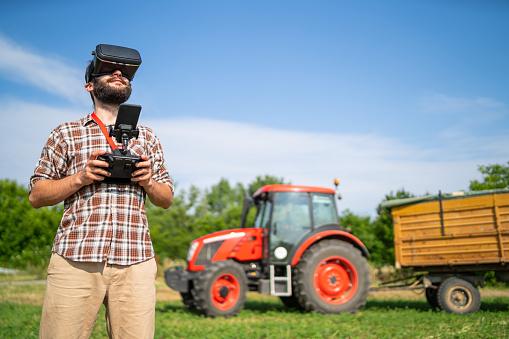 農業「農民のフィールド、送り込もうと VR のヘッドセットを使用して」:スマホ壁紙(12)