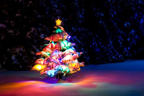 Christmas Lights「Colorful Christmas tree」:スマホ壁紙(9)
