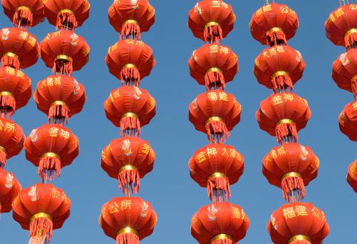 Chinese Lantern「Colorful Chinese Paper Lanterns」:スマホ壁紙(9)