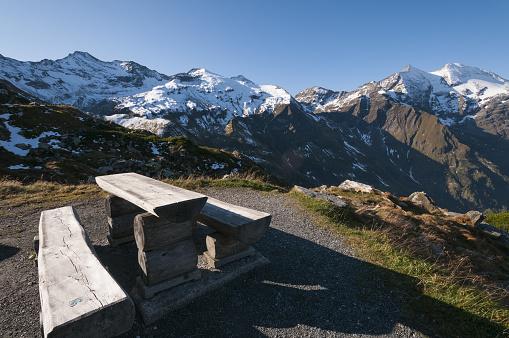 Picnic Table「High Tauern landscape below Fuscher Torl」:スマホ壁紙(5)