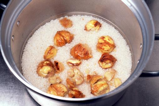 栗「Making Chestnut Rice」:スマホ壁紙(13)