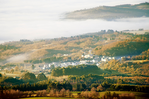 Camino De Santiago「Castroverde village from above, Lugo province, Galicia, Spain.」:スマホ壁紙(17)