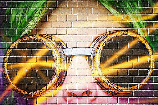 Flying Goggles「woman looking into the future - graffitilook」:スマホ壁紙(7)
